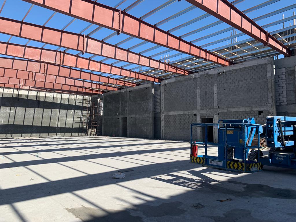 New project in Bahrain,6.7m High Partition Wall is finished