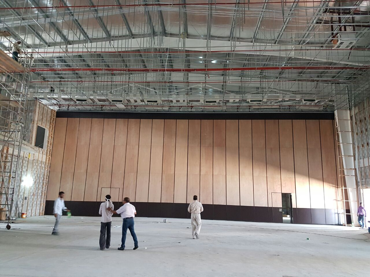 9M high partition wall for multi-purpose of hall of Bahrain Defence Force