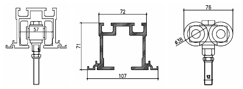 Hanging Roller For Partition Wall