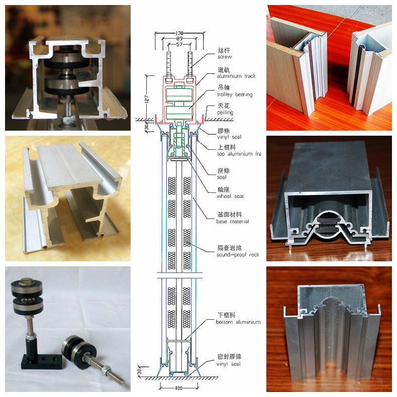 Movable Wall Aluminum Profile and Accessories