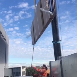 Operable Partition Wall lifting high building for installation