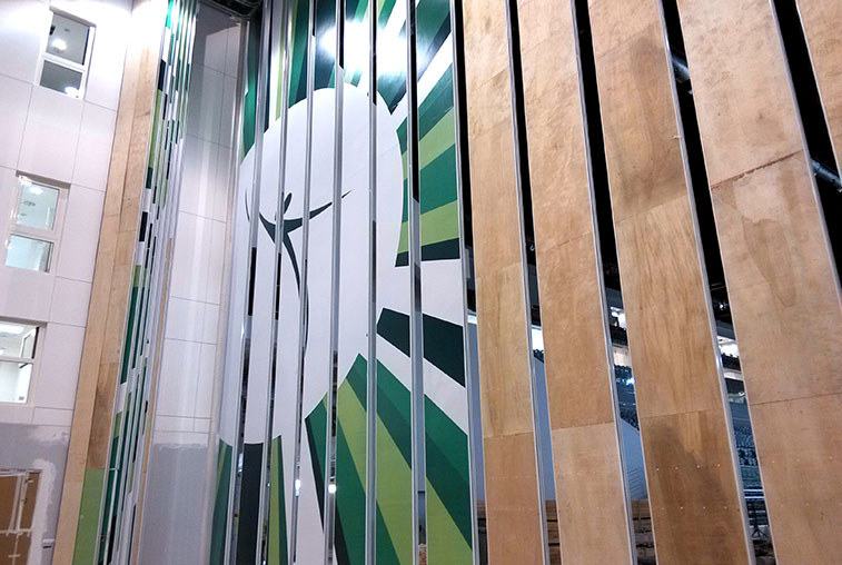 16.54m High Partition Wall For National Gymnastics Arena Of Azerbaijan